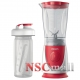 Blender Philips mini Daily Collection HR2872/00, 350 W, 0.6 l, 2 Viteze, Rosu/Alb
