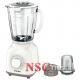 Blender Philips Daily Collection HR2106/00, 400 W, 1.5 l, Tocator fin 0.12 l, 2 Viteze, Functie impuls, Alb/Bej